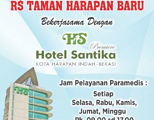 Kerjasama Inhouse Clinic RS. THB dengan Hotel Santika Premiere kota Harapan Indah